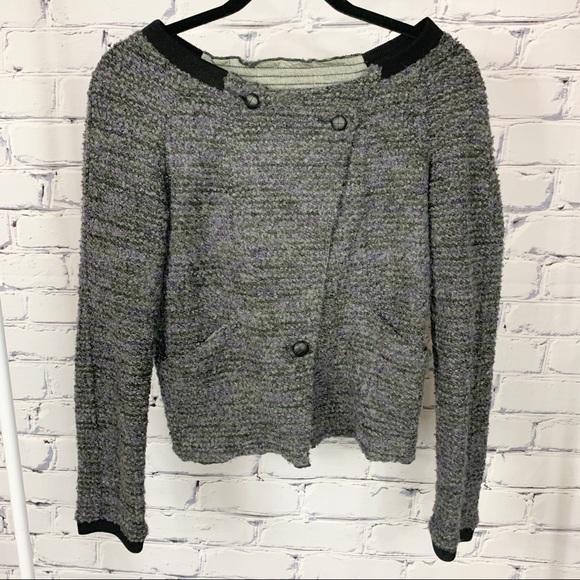 Free People Boucle Sweater Jacket Wool Size Small
